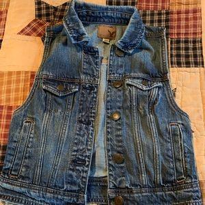 Women's American Eagle Jean Vest